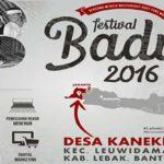 Yuk ke Banten, Sambangi Festival Baduy