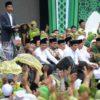 Hadiri Harlah Muslimat NU, Jokowi Bersarung