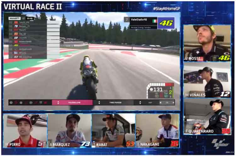 Debut Rossi di Virtual MotoGP